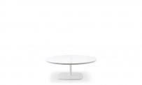 Loungetisch style rund 90 weiß weiß
