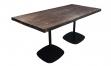 Tisch style 160x80 schwarz/massivholz