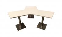 Tisch ATLANTA STERN 60 weiß