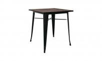 Tisch LA VAGA 70x70 schwarz/massivholz